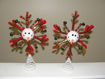 "GLITTER ""SNOWMAN"" SNOWFLAKE TREE TOPPER in Camp Lejeune, North Carolina"