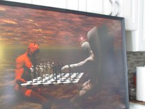 Picture of Red Devil Playing Chess (Good vs Evil) in Chicago, Illinois