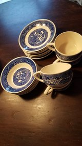 Blue willow ware USA 1940s-1950s in Lockport, Illinois