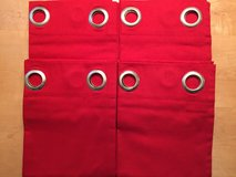 "Set of 4 NEW Garnet Hill Red Canvas Grommet Curtain Panels 42"" W X 84"" L in Naperville, Illinois"