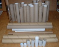 USED CARDBOARD TUBES X 30 in Lakenheath, UK