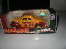 """1940 Ford Modified Stocker. 1/25 diecast """"Redskins"""" by Ertl in St. Charles, Illinois"""