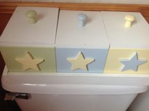 Green/ Yel /Blue Storage Boxes With Stars in Fort Campbell, Kentucky