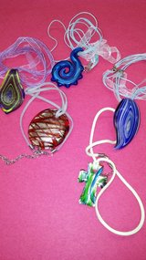 Pretty glass necklaces in Yucca Valley, California