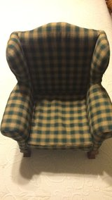 Green / Tan American girl size doll chair by Tender Art collection in Schaumburg, Illinois