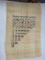 Hieroglyphe Egyptian Alphabet ( Original Egyptian Papyrus ) in Stuttgart, GE