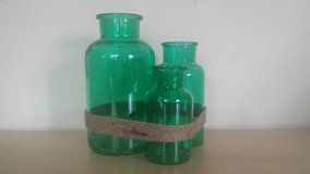 NEW - Blue-green Bottles with Rope Accents (2 available) in Naperville, Illinois