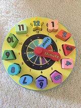 Melissa and Doug wooden clock puzzle in Bolingbrook, Illinois
