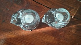 Christmas glass candle holder in Ramstein, Germany