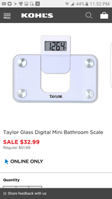 Taylor glass digital mini bath scale new in Lockport, Illinois