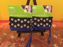 lot 2 pet dispensers waste dog poo puppy pick-up bags pet poop bag holder in Naperville, Illinois