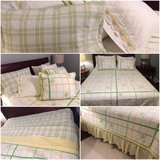 ~~~~Pottery Barn queen/full bedding, quilt, shams, bed skirt, sheets in Naperville, Illinois