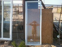 """Window 23"""" x 65"""" White Cordless Enclosed Aluminum Blinds in 29 Palms, California"""