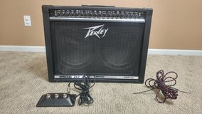 Peavey Special 212 Amp, kick pedal and guitar cord in Fort Knox, Kentucky