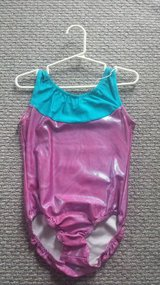 Sparkly Pink Aqua Leotard Sz Child 12 in Glendale Heights, Illinois