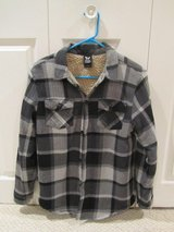 Boys' sherpa-lined flannel shirt jackets in Yorkville, Illinois