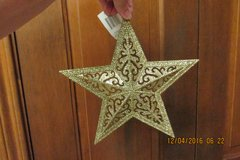 Large Glittery Christmas Star Ornament - One Silver - One Gold in Kingwood, Texas