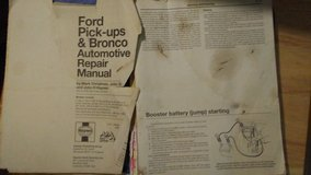 Haynes Ford Pickups/ Bronco's  2+ 4 wheel manual in Alamogordo, New Mexico