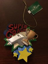 NEW with Tags ~ Super Coach Christmas Ornament by Kurt S Adler Personalize It in Naperville, Illinois