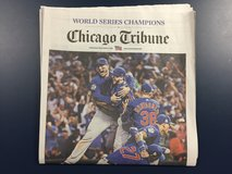 Cubs win! Chicago Tribune 11/3 edition. in Aurora, Illinois