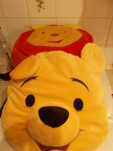 Winnie the Pooh 3D Cushion and Inflatable Foot Stool in Lakenheath, UK