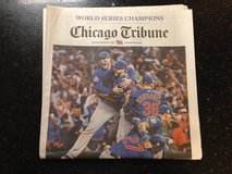 Chicago Cubs Champions Chicago Tribune 11/3 World Series Champs full newspaper in St. Charles, Illinois