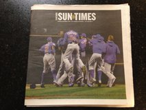 Chicago Cubs World Series Champions Chicago Sun Times 11/2 full newspaper in Aurora, Illinois