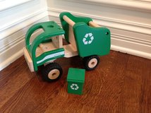 Pottery Barn Kids Wooden Vehicles - Police Car & Recycle Truck in Glendale Heights, Illinois