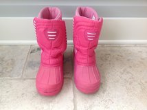 Girls Pink C9 Brand Snow Boots Size 3 in Naperville, Illinois