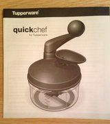 Vintage Tupperware Quickchef Food Processor and Chopper in Plainfield, Illinois