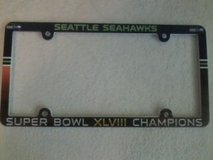 Seahawks License Plate Frame Super Bowl XLVIII Champions (NEW) $12 each or 2 for $20 in Fort Lewis, Washington