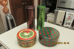 Baking Cookies For The Holidays? -- 4 Christmas Tins -- $1.00 Each in Houston, Texas
