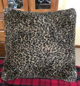 Soft, Furry Cheetah Print Pillow in Yorkville, Illinois
