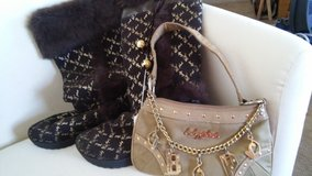 Baby phat boots NEW. Size 9B & small purse in Cochran, Georgia