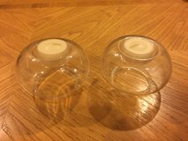 2 Round Glass Candle Holders in Joliet, Illinois