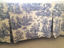 Bedskirt Blue Toile pattern in Bartlett, Illinois