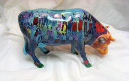 Summertime Bank 2002 Cows on Parade #7463 Art Figurine Chicago New York Exhibit in Kingwood, Texas
