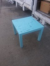 Blue table in Fort Riley, Kansas