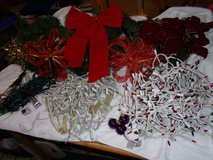 CHRISTMAS DECOR LOT 9 FOOT GARLAND , 2 SETS OF COLORED LIGHT I SET OF WHITE LIGHTS AND MORE, SEE... in Fort Hood, Texas