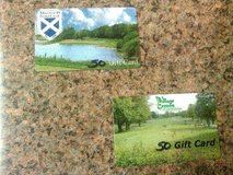 TWO $50 GOLF GIFT CARDS..MISTWOOD AND VILLAGE GREENS   ;) in Naperville, Illinois