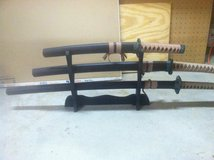 Samurai sword set in Yucca Valley, California