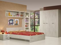 US Full Size Bed Action - Bed + Night Stand + Optimum Mattress + Box Frame + Delivery & Set-Up GB in Lakenheath, UK