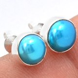 New - Blue Pearl 925 Sterling Silver Stud Earrings in Alamogordo, New Mexico