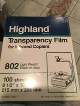New Packs of Transparency Film in Glendale Heights, Illinois