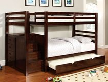 TWIN / TWIN BUNK BED W STORAGE FREE DELIVERY in Camp Pendleton, California