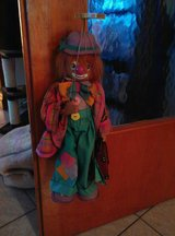 """Marionette Clown (String Puppet) made of wood, 17"""" Tall from Head to Toe! 28 inches from top to ... in Ramstein, Germany"""