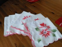 Beautiful Poinsettia Cloth Napkins in Oswego, Illinois