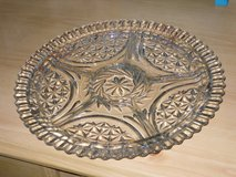 "12"" cut glass divided platter in Naperville, Illinois"