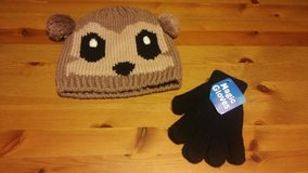 Teddy bear knit hat with gloves in Houston, Texas