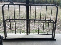 Metal king size bed frame in Fort Polk, Louisiana